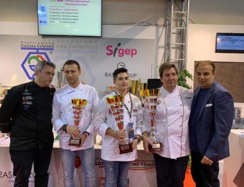 """#Sigep2019 – Concorso """"Eccellenza"""": vince Crema al mascarpone con vino passito, biscotto con bagna al mango e gelée di asparagi"""