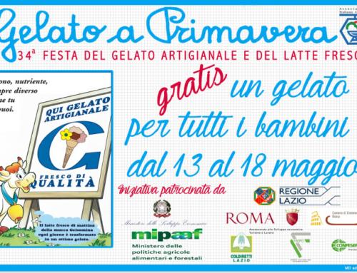 Parte a Roma la 34° Edizione di Gelato a Primavera – Dal 13 al 18 Maggio un gelato gratis per tutti i bambini